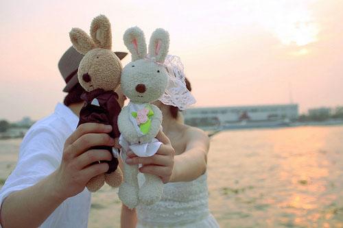爱情语句:何时能牵你的手,共看海天成一色