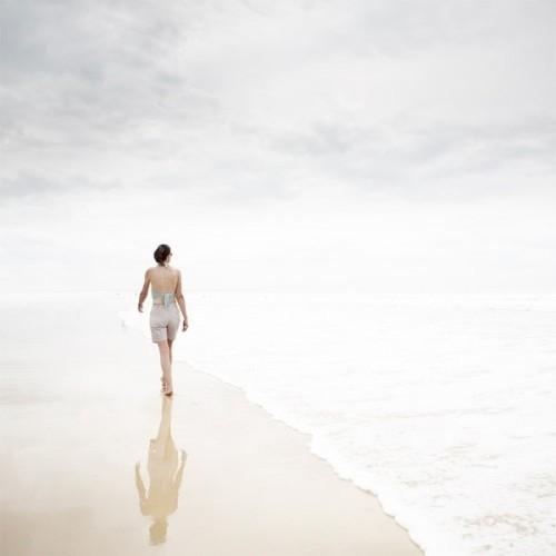 唯美意境图片:遇见大海的蓝