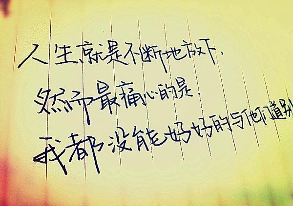 别等不该等的人,别伤不该伤的心