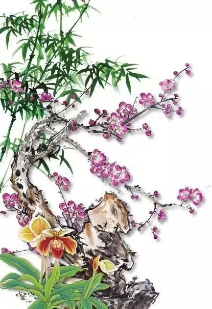 虚心竹有低头叶,傲骨梅无仰面花