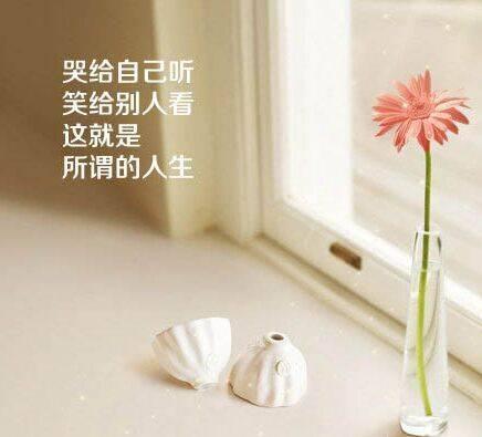 人生就是哭给自己听,笑给别人看